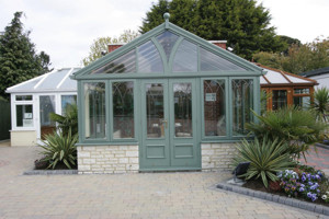 Grey gable-end conservatory